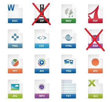 Verschiedene Dateiformen - auch für die Bewerbung