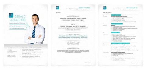 Bewerbungsdesign Individuell Beispiel - Gerald Schultheiß, IT-Consultant