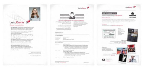 Bewerbungsdesign Individuell Beispiel - Luisa Krone, Manager Communications