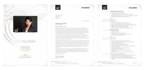 Bewerbungsdesign Individuell - Mika Follersen