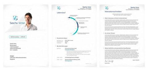 Bewerbungsdesign Individuell Beispiel - Sascha Victor, CAD Konstrukteur