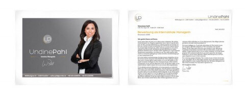 Bewerbungsdesign Individuell Beispiel - Undine Pahl, Interims Managerin
