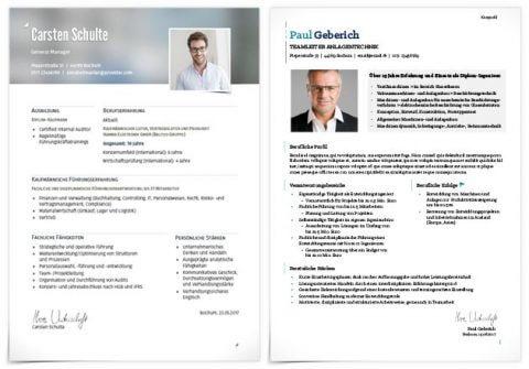 Kurzprofil Standard - links: Premium Design