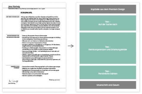Kurzprofil Standard - Ansicht Bausteine