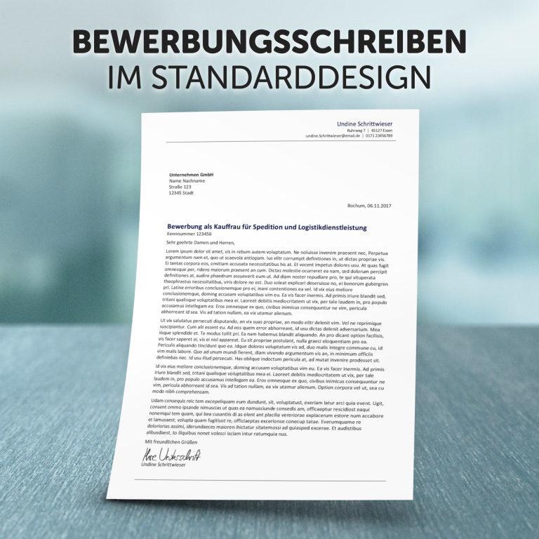 Unser Bewerbungsschreiben im Standard-Design