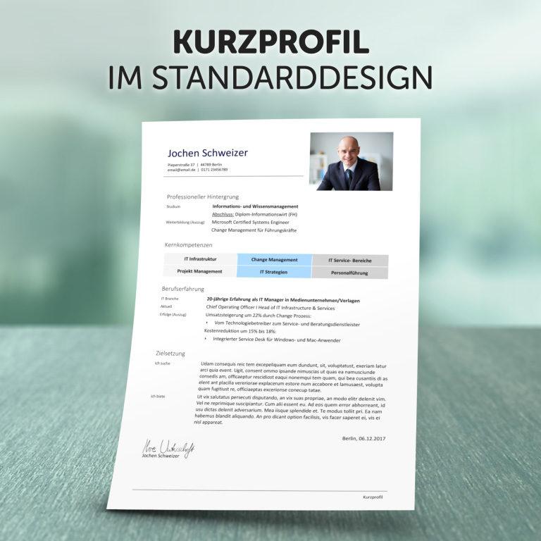 Unser Kurzprofil im Standard-Design